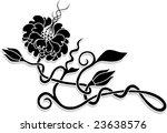 flower in celtic  tattoo style | Shutterstock .eps vector #23638576