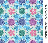 seamless pattern with colorful... | Shutterstock .eps vector #236392528