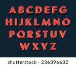 vector retro looking 3d... | Shutterstock .eps vector #236396632
