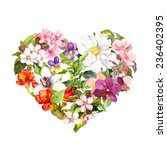 Floral Heart With Flowers ...
