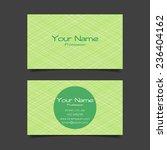 abstract modern business card... | Shutterstock .eps vector #236404162