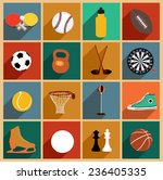 vector flat icons set with long ... | Shutterstock .eps vector #236405335