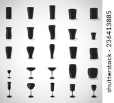 glasses icons set   isolated on ... | Shutterstock .eps vector #236413885