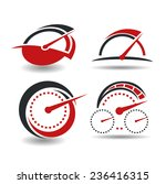 vector set of abstract... | Shutterstock .eps vector #236416315
