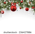 winter background with spruce... | Shutterstock .eps vector #236427886