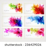 set of fantasy flowers element. ... | Shutterstock .eps vector #236429026