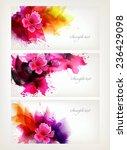 set of fantasy flowers element. ... | Shutterstock .eps vector #236429098