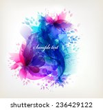 fantasy watercolor vector... | Shutterstock .eps vector #236429122