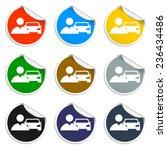 car man icon. flat vector... | Shutterstock .eps vector #236434486