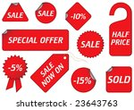 vector set of tags | Shutterstock .eps vector #23643763