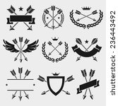 bow arrow labels and elements... | Shutterstock .eps vector #236443492