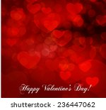 valentine's day abstract... | Shutterstock .eps vector #236447062
