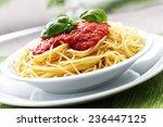 spaghetti with tomato sauce | Shutterstock . vector #236447125