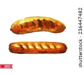 grilled sausages | Shutterstock .eps vector #236447482