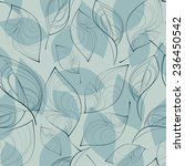 seamless pattern with leaves.... | Shutterstock .eps vector #236450542