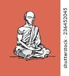 tibetan monk | Shutterstock .eps vector #236452045