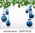 winter background with spruce... | Shutterstock .eps vector #236474152