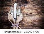 old ornate wooden board with... | Shutterstock . vector #236474728