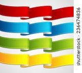 vector ribbons set | Shutterstock .eps vector #236474836