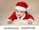 Baby In Christmas Costume Of...
