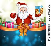cute cartoon of a santa claus... | Shutterstock .eps vector #236501602