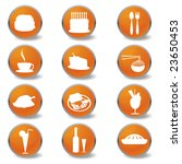 food and beverages web icons | Shutterstock . vector #23650453
