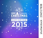 vector christmas greeting with... | Shutterstock .eps vector #236517838