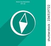 vector compass web flat icon....
