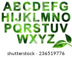 nature green alphabet on white | Shutterstock . vector #236519776
