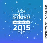 vector christmas greeting with... | Shutterstock .eps vector #236530135
