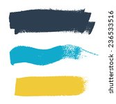 grunge brush stroke vector set... | Shutterstock .eps vector #236533516