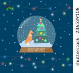 illustration with ginger fox... | Shutterstock .eps vector #236539108