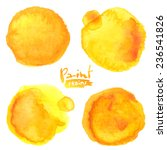 yellow watercolor painted... | Shutterstock .eps vector #236541826