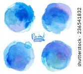 bright blue watercolor painted... | Shutterstock .eps vector #236541832