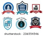university  college and academy ... | Shutterstock .eps vector #236554546