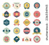 space badge banner flat design... | Shutterstock .eps vector #236554945