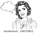 cute retro woman in comics... | Shutterstock .eps vector #236570812