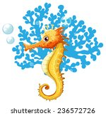 a seahorse underwater on a...