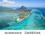 aerial view of le morne brabant ... | Shutterstock . vector #236583166