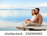 smiling man and woman couple... | Shutterstock . vector #236584402