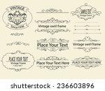 hand draw vintage swirl frame... | Shutterstock .eps vector #236603896