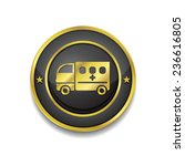 ambulance gold vector icon... | Shutterstock .eps vector #236616805