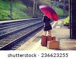 Woman Portrait  Train Station
