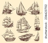 sailing tall ships yachts and... | Shutterstock . vector #236623702