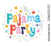 pajama party | Shutterstock .eps vector #236633122