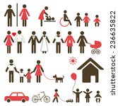 set of family icons and signs... | Shutterstock . vector #236635822