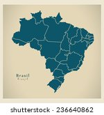 modern map   brasil with... | Shutterstock .eps vector #236640862