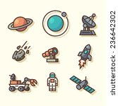 space icons. vector...