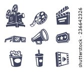 cinema icons. vector... | Shutterstock .eps vector #236642326