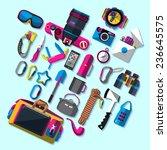 camping equipment. flat design. | Shutterstock .eps vector #236645575